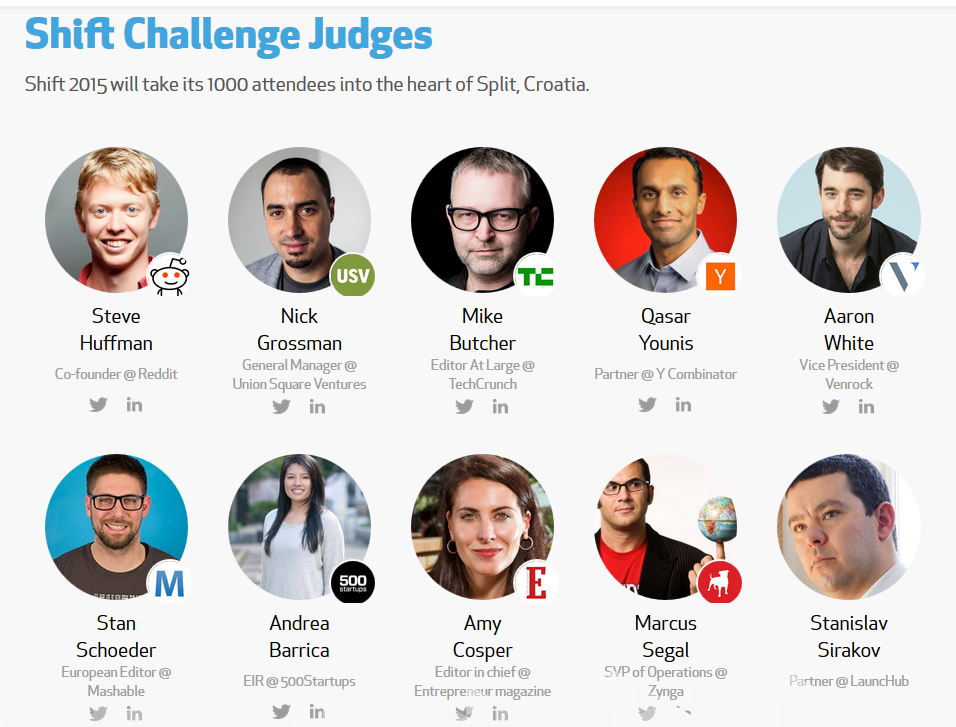 SHIFT STARTUP PITCH JUDGES