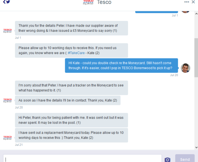 TESCO SOCIAL CUSTOMER SERVICE TWITTER
