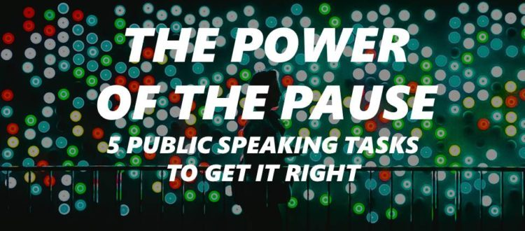 Pausing in public speaking Peter Hopwood Pitch coach