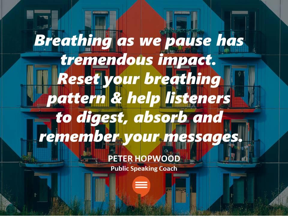 Peter Hopwood MC Host Presentation skills Pausing in Publc Speaking