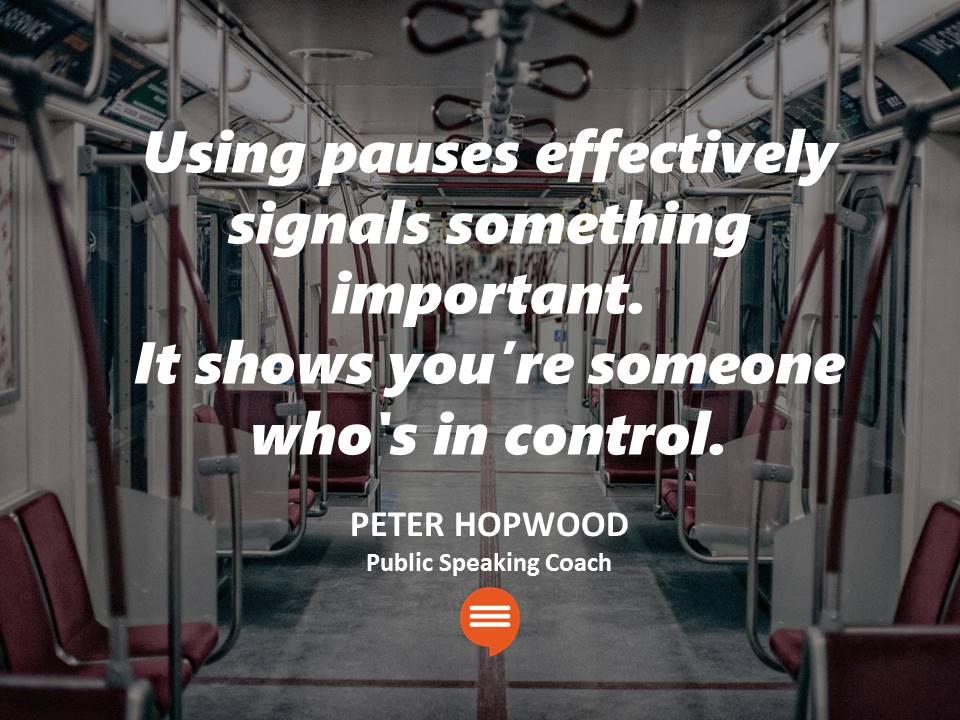 Pause Pausing in Public Speaking Startups