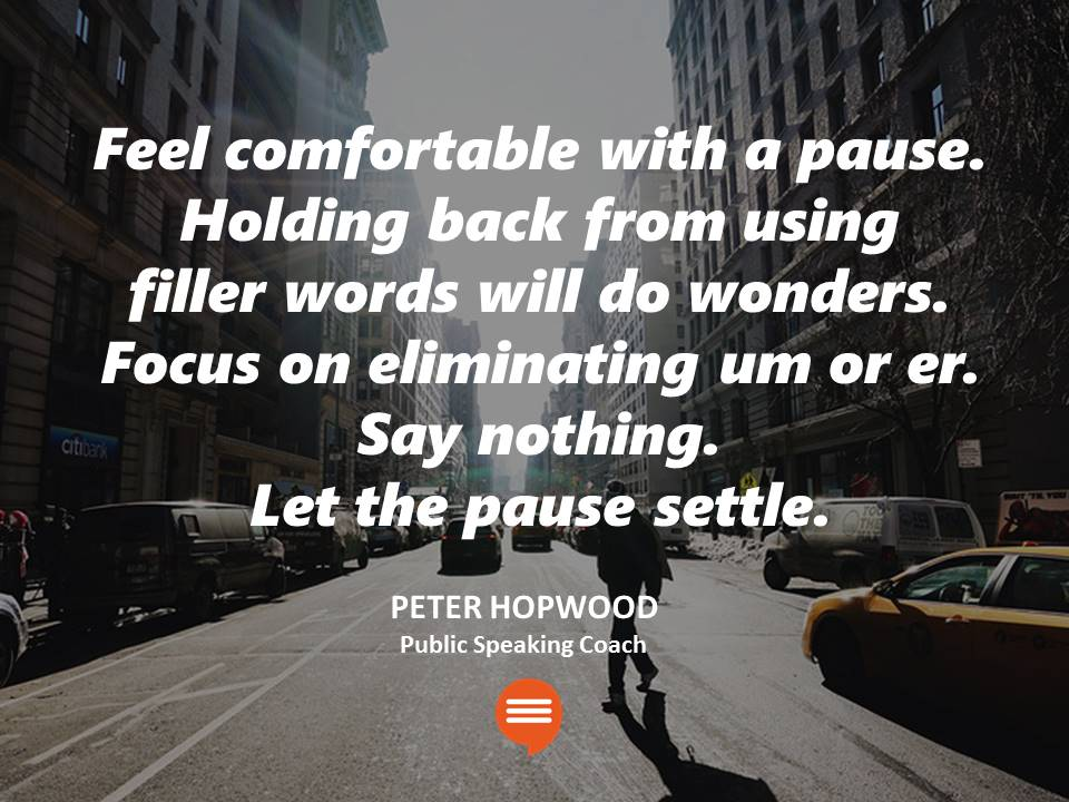 Public Speaking Coach Peter Hopwood Pausing